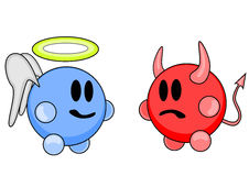 Anjo e diabo Foto de Stock Royalty Free