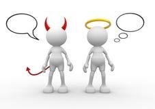 Anjo e diabo ilustração stock