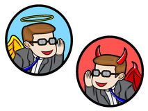 Anjo e diabo Fotografia de Stock