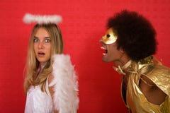 Anjo e diabo Imagens de Stock