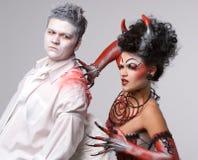 Anjo e diabo Imagem de Stock Royalty Free