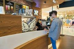Anjo-em-nós café Imagem de Stock Royalty Free
