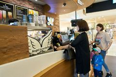 Anjo-em-nós café Imagem de Stock