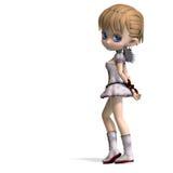 Anjo encantador de Toon para seu Valentim Imagens de Stock