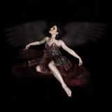 Anjo escuro fotografia de stock