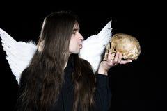 Anjo escuro Imagens de Stock Royalty Free