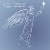 Anjo-estrela-feriado ilustração royalty free