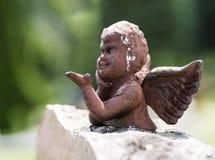 Anjo feito da pedra Imagem de Stock Royalty Free