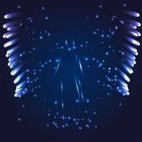 Anjo luminoso em um fundo escuro Foto de Stock