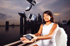 Anjo na cidade - 1 da tecnologia Fotos de Stock