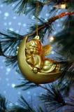 Anjo na lua crescente Fotos de Stock Royalty Free