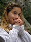 Anjo na oração 1 fotografia de stock royalty free