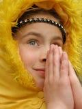Anjo na oração Fotos de Stock