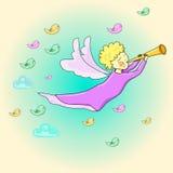 Anjo no céu ilustração royalty free