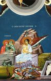 Anjo no fresco religioso Imagens de Stock Royalty Free