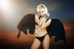 Anjo no inferno Foto de Stock Royalty Free