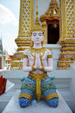 Anjo no templo Nontaburi Tailândia de Bangpai imagem de stock royalty free