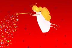 Anjo no vermelho Imagens de Stock Royalty Free