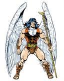 Anjo original do caráter da banda desenhada que guarda um pessoal Foto de Stock