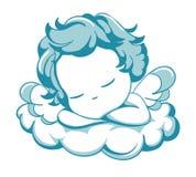 Anjo pequeno do sono Imagens de Stock Royalty Free