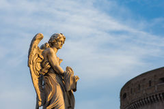 Anjo, Ponte Sant Angelo, Roma, Itália Foto de Stock Royalty Free