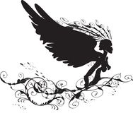 Anjo preto Ilustração Stock