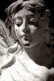 Anjo preto e branco Fotografia de Stock Royalty Free