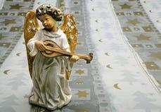 Anjo que joga o instrumento Imagem de Stock