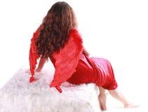 Anjo vermelho fotografia de stock