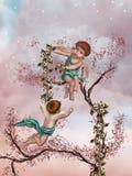 Anjos Ilustração Royalty Free