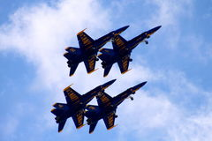 Anjos azuis Fotografia de Stock