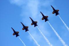 Anjos azuis Fotos de Stock Royalty Free