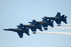 Anjos azuis 2 de marinha Foto de Stock Royalty Free
