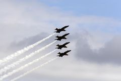 Anjos azuis de marinha dos E.U. Imagem de Stock
