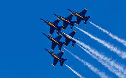 Anjos azuis do esquadrão da demonstração da marinha dos E.U. Fotos de Stock Royalty Free