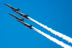Anjos azuis na formação Imagens de Stock Royalty Free