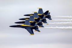 Anjos azuis na formação Imagem de Stock