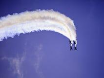 Anjos azuis no vôo fotografia de stock royalty free