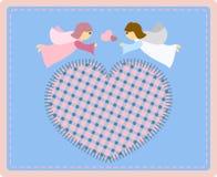 Anjos com coração Fotografia de Stock