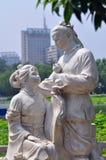 Anjos de Lotus no Pequim Lotus Flower Park Imagens de Stock