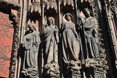 Anjos de Strasbourg foto de stock