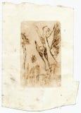 Anjos, desenho do vintage ilustração royalty free