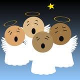 Anjos do canto Fotos de Stock Royalty Free