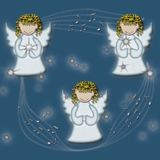 Anjos do canto Imagens de Stock Royalty Free