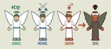Anjos do gráfico dos desenhos animados do deus ilustração royalty free