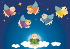 Anjos do vôo Foto de Stock Royalty Free