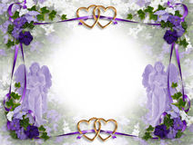 Anjos do Victorian do convite do casamento Imagens de Stock