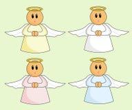Anjos dos desenhos animados Foto de Stock Royalty Free
