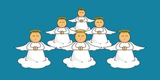 Anjos dos desenhos animados Fotos de Stock Royalty Free