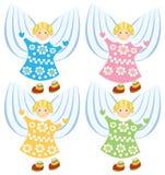 Anjos dos desenhos animados do vetor Imagem de Stock Royalty Free